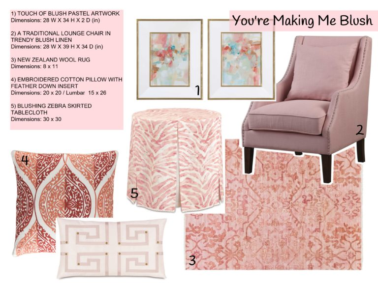 interior design trends - blush - graphic