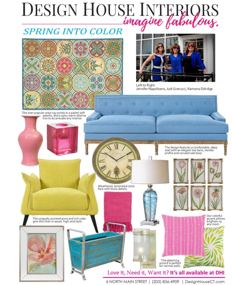 interior design trends - spring into color - graphic