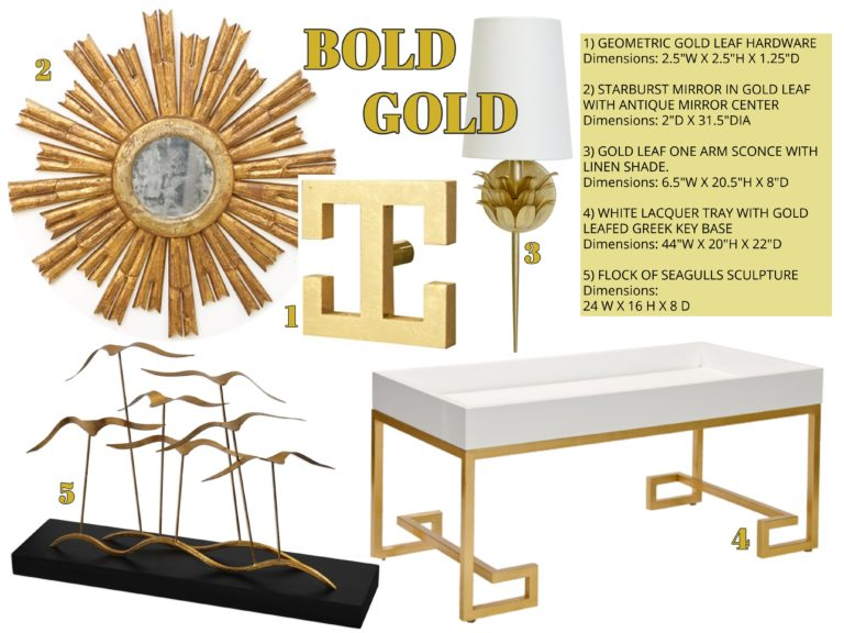 interior design trends - bold gold - graphic