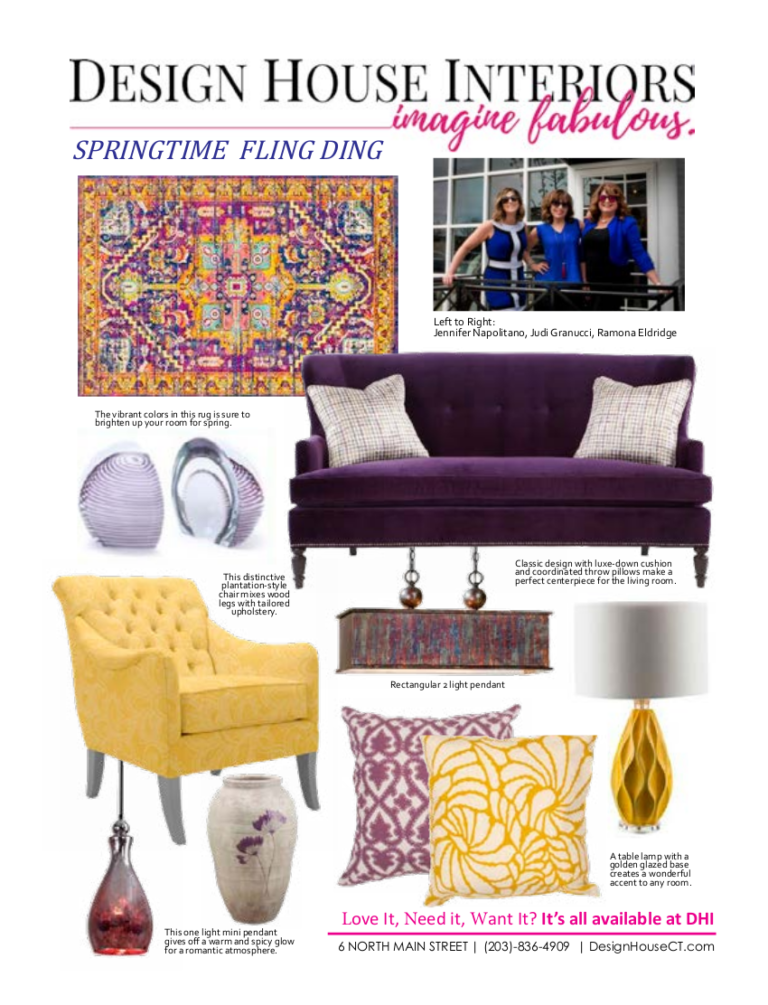 interior design trends - springtime fling ding - graphic