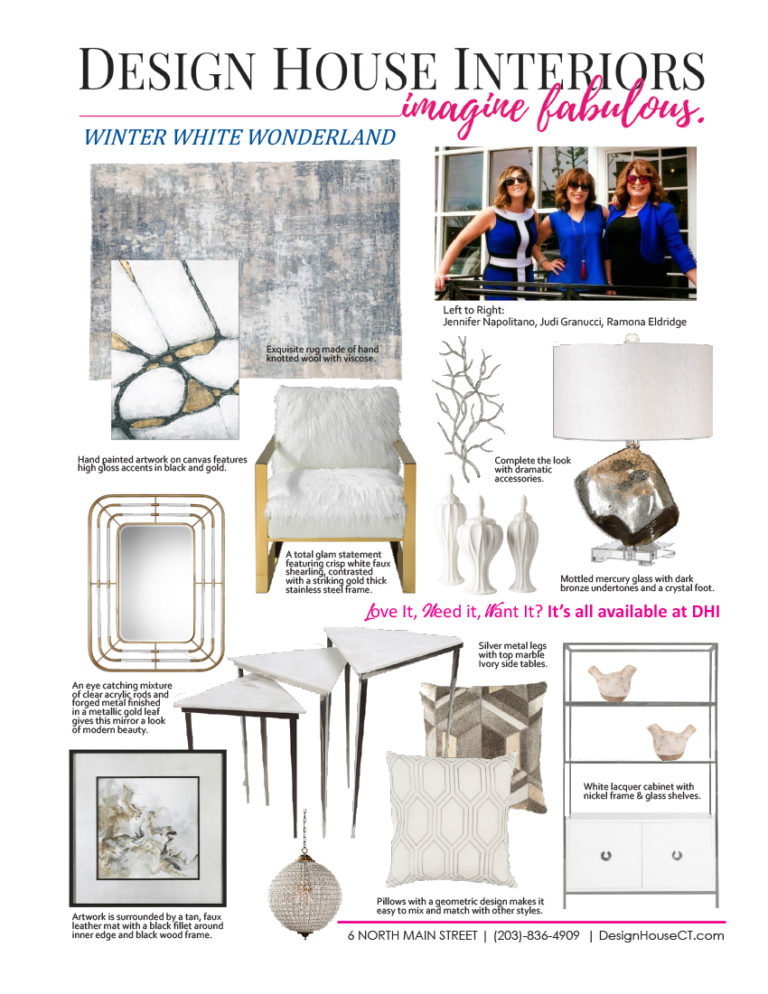 interior design trends - winter white wonderland - graphic